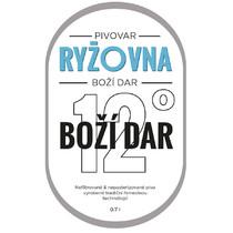 Etiketa 12°Boží Dar - 0,7l